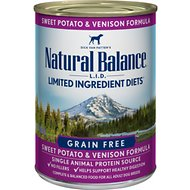 Natural Balance L.I.D. Limited Ingredient Diets Sweet Potato & Venison Formula Grain-Free Canned Dog Food, 13-oz, case of 12