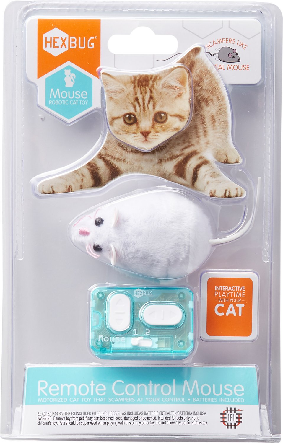 Hexbug Remote Control Mouse Cat Toy Color Varies Chewy Com