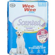 Wee-Wee Scented Lavender & Chamomile Dog Training Pads, 22 x 23 in, 10 count