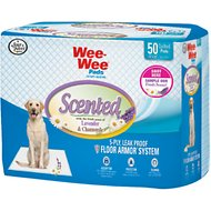 Wee-Wee Scented Lavender & Chamomile Dog Training Pads, 22 x 23 in, 50 count