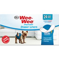 Wee-Wee Disposable Dog Diaper Liner Pads, 24 count