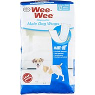 Wee-Wee Disposable Male Dog Wraps, X-Small/Small, 12 count