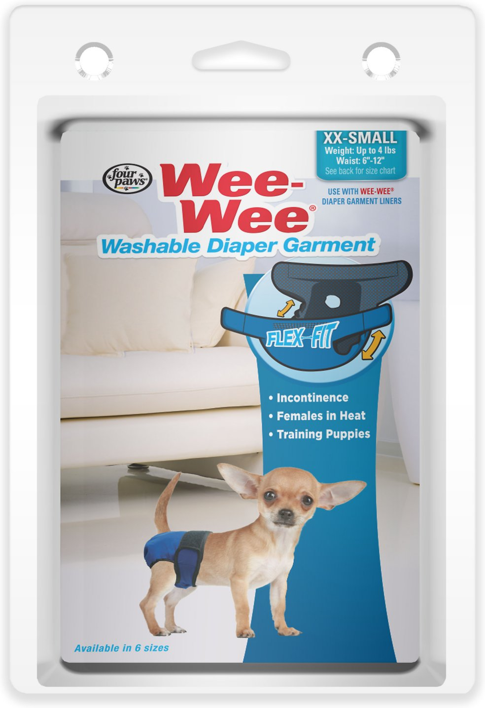 Wee-Wee Washable Dog Diaper Garment, XX-Small - Chewy.com