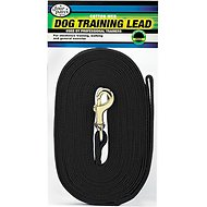Four Paws Cotton Web Training Dog Lead, Black, 20-ft