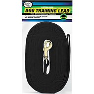 Four Paws Cotton Web Training Dog Lead, Black, 50-ft