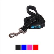 Max and Neo Dog Gear Reflective Dog Leash, Black, 6-ft x 1-inch