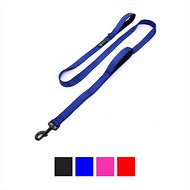 Max and Neo Dog Gear Double Handle Reflective Dog Leash, Blue, 6-ft