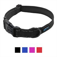 Max and Neo Dog Gear NEO Reflective Dog Collar, Medium, Black