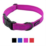 Max and Neo Dog Gear NEO Reflective Dog Collar, Pink, Medium