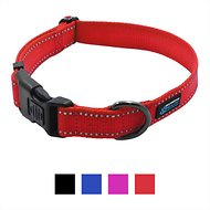 Max and Neo Dog Gear NEO Reflective Dog Collar, Red, Medium