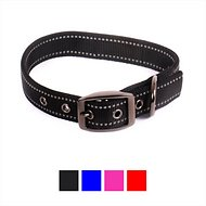 Max and Neo Dog Gear MAX Reflective Dog Collar, Black, Small