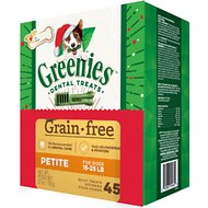 Greenies Season's Greenies Grain-Free Petite Dental Dog Treats, 45 count