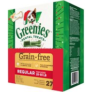 Greenies Season's Greenies Grain-Free Regular Dental Dog Treats, 27 count