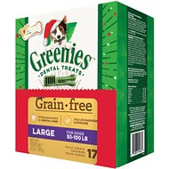 Greenies Season's Greenies Grain-Free Large Dental Dog Treats, 17 count