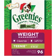 Greenies Season's Greenies Weight Management Teenie Dental Dog Treats, 96 count