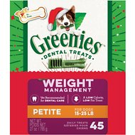 Greenies Season's Greenies Weight Management Petite Dental Dog Treats, 45 count