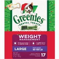 Greenies Season's Greenies Weight Management Large Dental Dog Treats, 17 count