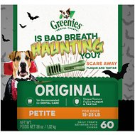 Greenies Halloween Petite Dental Dog Treats, 60 count