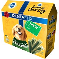 Pedigree Dentastix Holiday Large Fresh Dental Dog Treats, 28 count