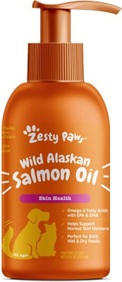 2. Zesty Paws Pure Salmon Oil Skin & Coat Support
