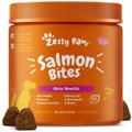 Zesty Paws Salmon Bites Skin & Coat Dog Supplement