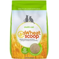 sWheat Scoop Multi-Cat Natural Wheat Cat Litter, 12-lb bag