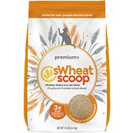 sWheat Scoop Premium+ Natural Clumping Wheat Cat Litter, 10-lb bag
