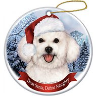Pet Gifts USA Howliday Dog Breed Ornament, Bichon
