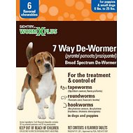 Sentry HC WormX Plus 7 Way Puppy & Small Dog De-Wormer, 6 count