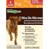Sentry HC WormX Plus 7 Way Medium & Large Dog De-Wormer, 6-count
