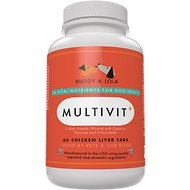 Buddy & Lola Multivit+ Chicken Liver Tablets for Dogs, 60 count