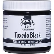 Top Performance Hair Dye Gel for Dogs & Cats, 4-oz, Tuxedo Black