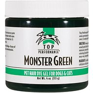 Top Performance Hair Dye Gel for Dogs & Cats, Monster Green, 4-oz