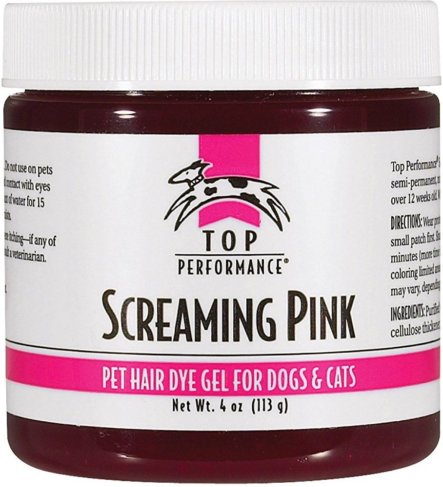 Top Performance Hair Dye Gel for Dogs & Cats, 4-oz, Screaming Pink ...