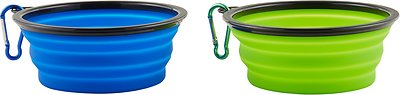 Mr. Peanut's Premium Collapsible Silicone Dog & Cat Bowls, 1.5-cup