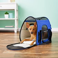 Mr. Peanut's Airline Approved Soft Sided Dog and Cat Carrier, Deja Blue