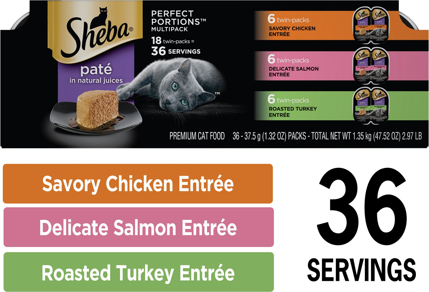 Sheba Perfect Portions Grain Free Multipack Savory Chicken