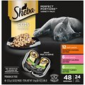 Sheba Perfect Portions Grain-Free Multipack Roasted Chicken, Gourmet Salmon & Tender Turkey Cuts in Gravy Cat Food Trays