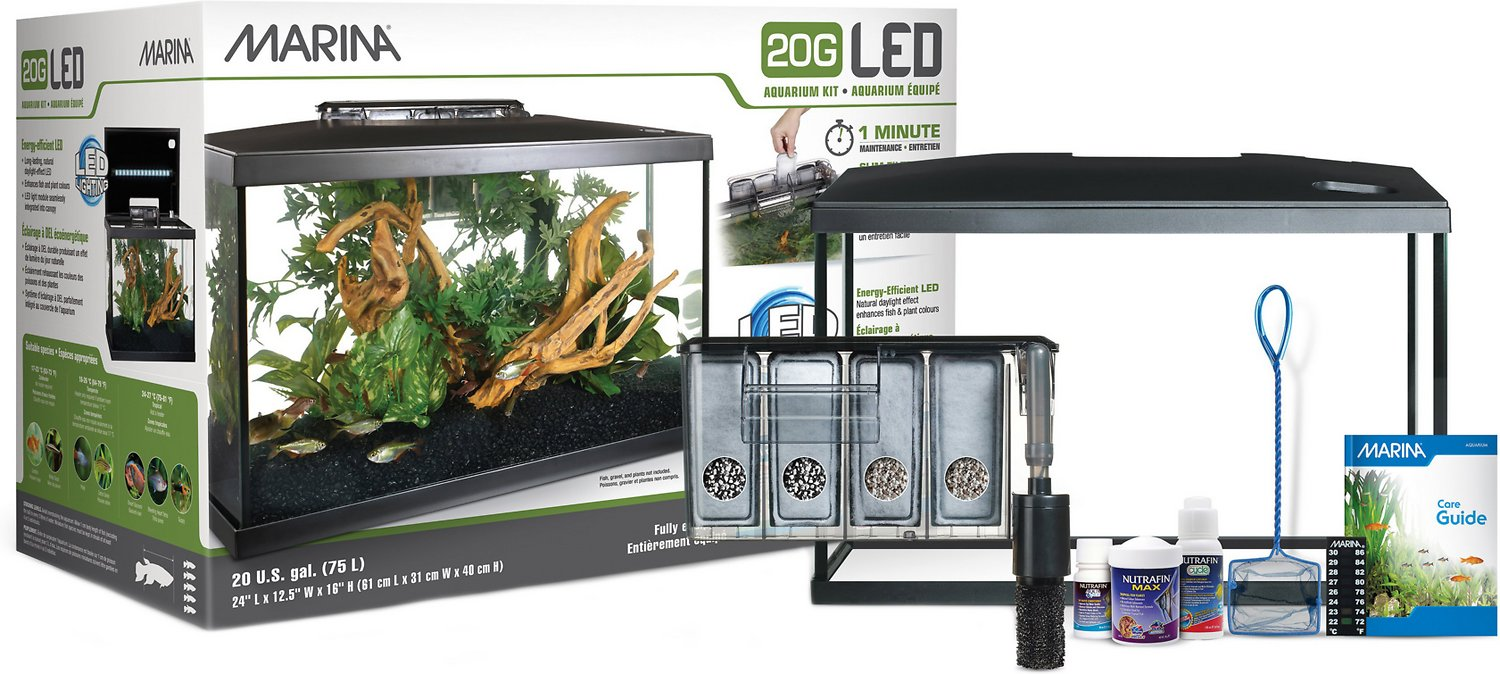 Marina Led Aquarium Kit 20 Gal Chewy Com