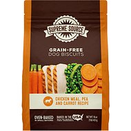 Supreme Source Chicken Meal, Pea & Carrot Biscuits Grain-Free Dog Treats, 16-oz bag