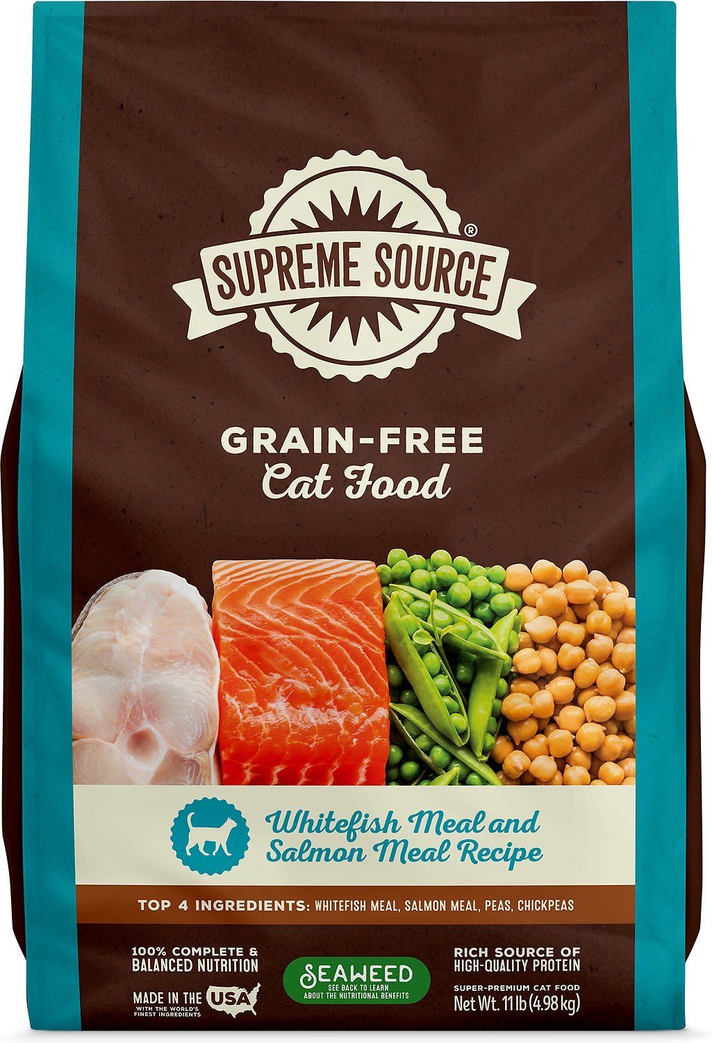best grain free wet cat food 2020 Supreme Source Whitefish Meal & Salmon Meal Grain Free Dry Cat