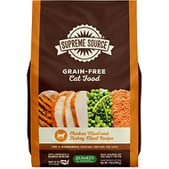 Supreme Source Chicken Meal & Turkey Meal Grain-Free Dry Cat Food, 11-lb bag