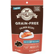 Supreme Source Salmon Grain-Free Soft Cat Treats, 3-oz bag