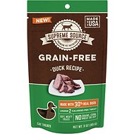 Supreme Source Duck Grain-Free Soft Cat Treats, 3-oz bag