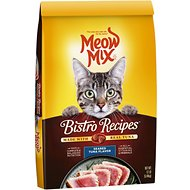 Meow Mix Bistro Recipes Seared Tuna Flavor Dry Cat Food, 12-lb bag