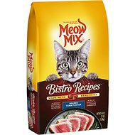 Meow Mix Bistro Recipes Seared Tuna Flavor Dry Cat Food, 3-lb bag