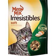 Meow Mix Irresistibles with Real Turkey Soft Cat Treats, 3-oz bag