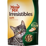 Meow Mix Irresistibles with Real Turkey Soft Cat Treats, 6.5-oz bag
