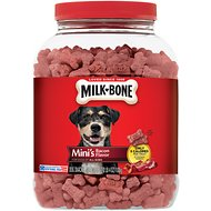 Milk-Bone Mini's Bacon Flavor Biscuit Dog Treats, 36-oz cannister