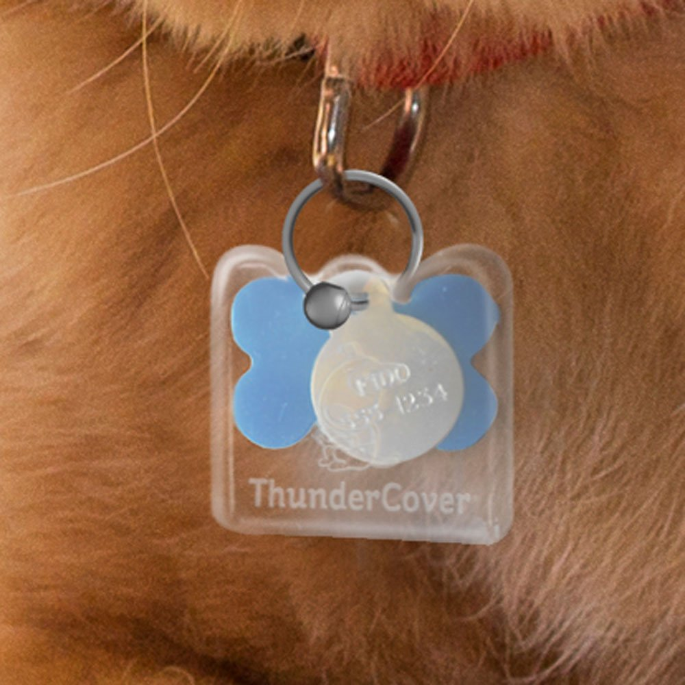 Thundercover Mini Dog Tag Silencer Clear Chewy Com
